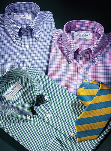 Boy's Tattersall Check Button Downs