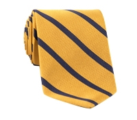 Mogador Bar Stripe Tie in Gold and Navy