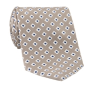 Silk Diamond Motif Tie in Sand