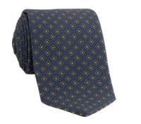 Wool Flower Printed Tie in Royal