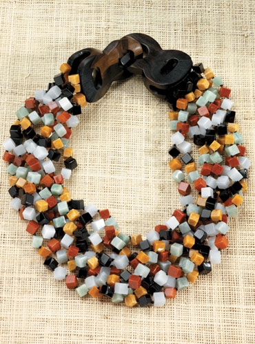 Multi-Strand Jade Necklace