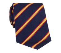 Silk Stripe Tie in Marigold and Red