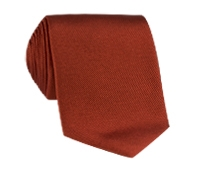 Silk Solid Signature Tie in Spice