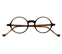 Lafont Round Frame in Spice Marble