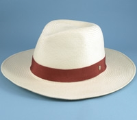 Ladies Panama Hat with Tamarillo Grosgrain