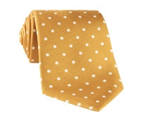 Silk Print Dot Motif in Gold