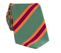 Mogador Silk Stripe Tie in Pastel