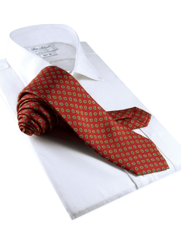 Printed Neat Tie in Red