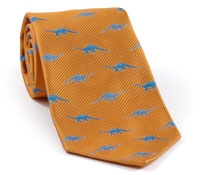 Dinosaur Tie for Boys in Gold