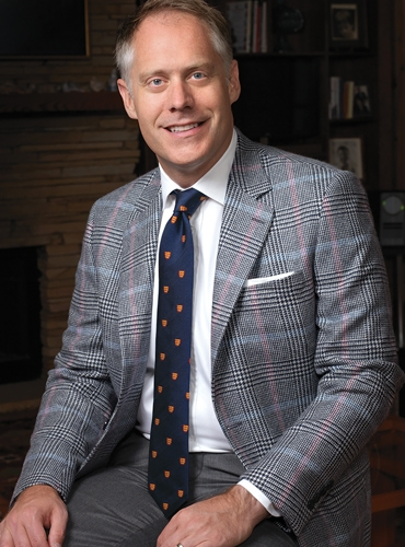 Navy and Cream Glen Plaid Sport Coat with Double Windowpane in Sky and Rose