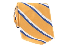 Woven Double Stripe Tie in Sun