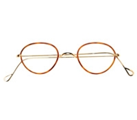 Wire Pantos Frame in Amber with Champagne Gold, Size 42mm