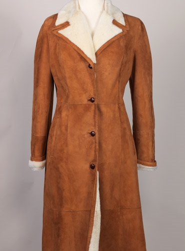 Ladies Shearling Coat, Size 6