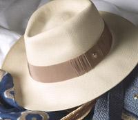 Ladies Panama Fedora Hat in Ivory