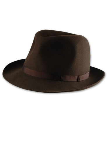 Borsalino Travelers Fedora in Coffee