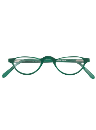 Silver Line Half Moon Reader in Green