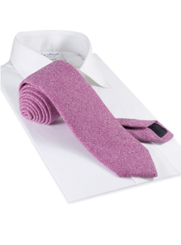 Cashmere Donegal Tie in Peony