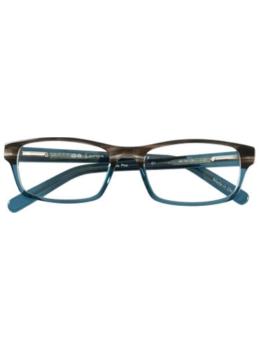 Slim Rectangular Children's Frame in Brown and Teal