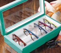 Large Eyewear Chest in Aqua