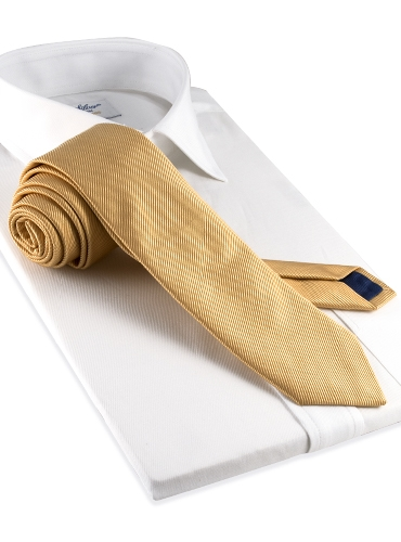 Mogador Solid Tie in Champagne