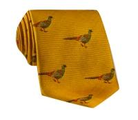 Silk Woven Pheasant Tie in Marigold
