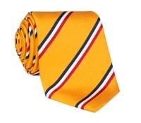 Silk Triple Stripe Tie in Marigold