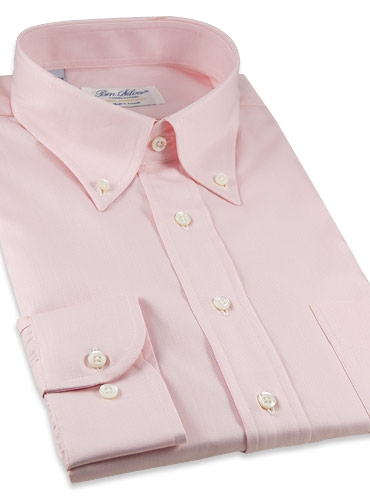 Classic Pink Twill Button Down