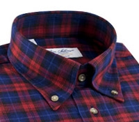 Red, Midnight, and Blue Plaid Buttondown