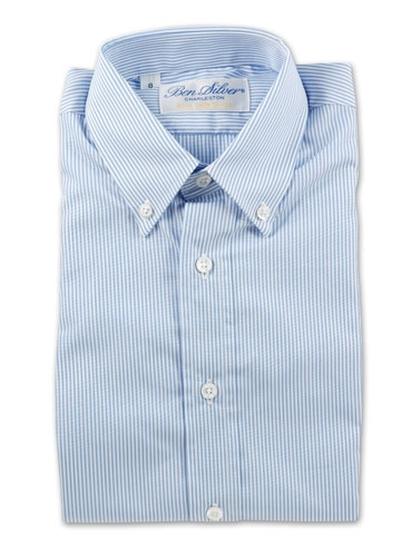 Boys Blue Pencil Stripe Shirt