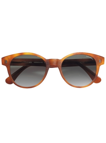 Large Round Sunglasses in Honey Matte