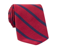 Mogador Bar Stripe Tie in Ruby and Navy