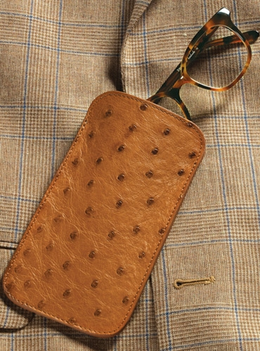 Ostrich Eyeglass Case