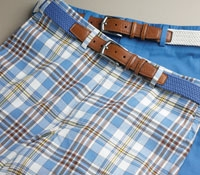Madras Shorts Blue/Brown