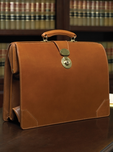 Top Frame Document Case in Hazel