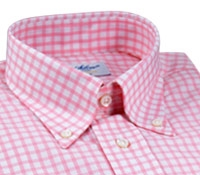 Light Pink Grid Check Button Down