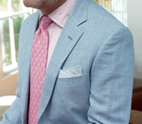 Cobalt Glen Plaid Sport Coat