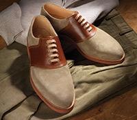 The Lulworth Saddle Shoe in Mushroom Suede