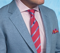 Cobalt and Regal Blue Herringbone Sport Coat