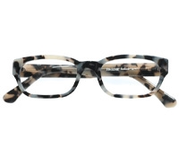 Bold Rectangular Frame in Cream Tortoise