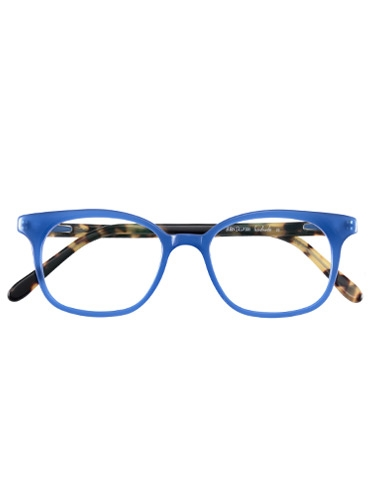 Slender Tip Frame in Blue with Tortoise Temples