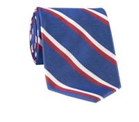 Woven Double Stripe Tie in Persian