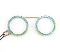 Fassamano Readers in Iridescent Turquoise, 3.00 Lenses
