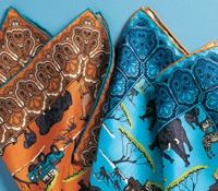 Silk Safari Motif Pocket Squares