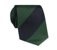 Silk Block Stripe Tie in Hunter and Black