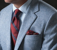 Cream and Sky Donegal Pure Cashmere Sport Coat