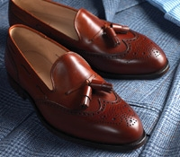 The Lichfield Tassel Loafer in Burnished Chestnut