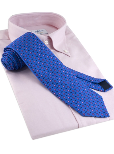 Silk and Wool Droplet Paisley Tie in Persian