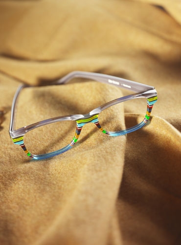 Silver Line Multi-Colored Handmade Frame in Aqua and Grey
