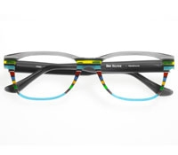 Rectangular Multi-Colored Frame in Aqua and Grey