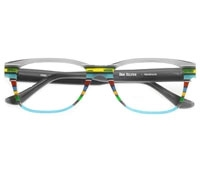 Multi-Colored Handmade Frame in Aqua and Grey